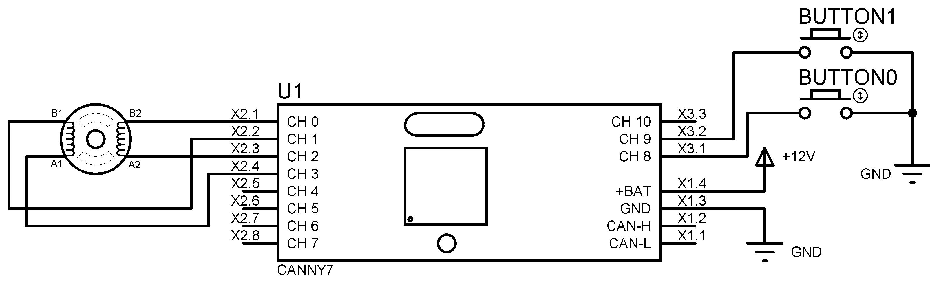 управления шаговый двигатель схема